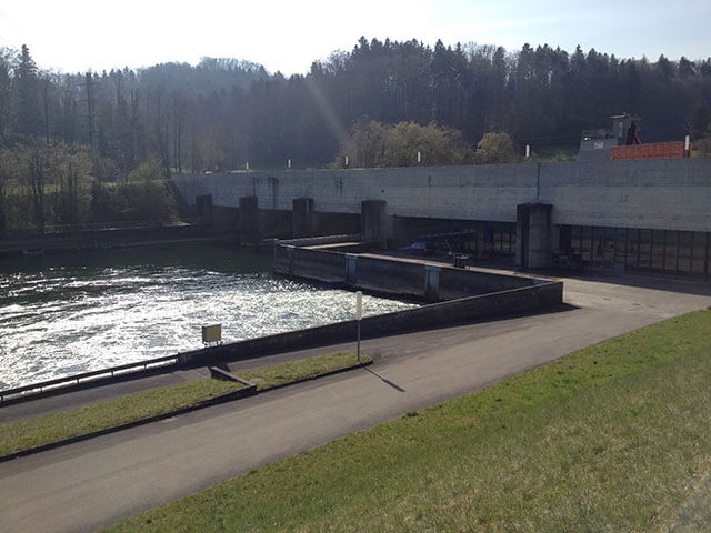 Hydroelectric power plant in Bannwil Switzerland